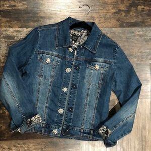 Denim Jacket with rhinestone button/snaps